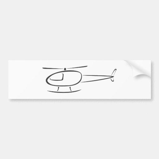 Helicóptero no estilo do desenho da abanada adesivo