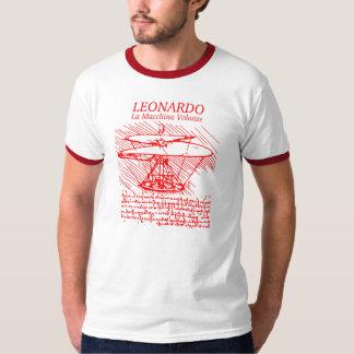 Helicóptero vermelho de Leonardo da Vinci Camiseta