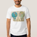 Hemisfério ocidental e oriental camisetas
