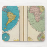 Hemisfério ocidental e oriental mouse pad