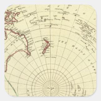 Hemisfério sul adesivo quadrado