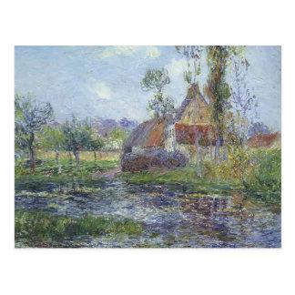Hendreville pelo rio de Eure por Gustave Loiseau Cartao Postal