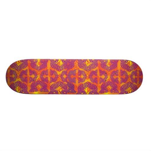 Henna tribal do pássaro do tatuagem skateboard