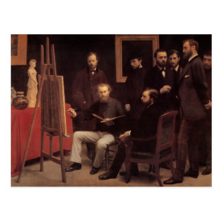 Henri Latour- um estúdio no Batignolles Cartão Postal