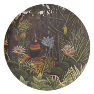 Henri Rousseau a selva do sonho floresce a pintura Prato