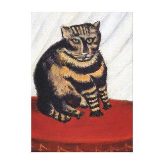 Henri Rousseau - o gato de tigre (Le Conversa Impressão Em Tela