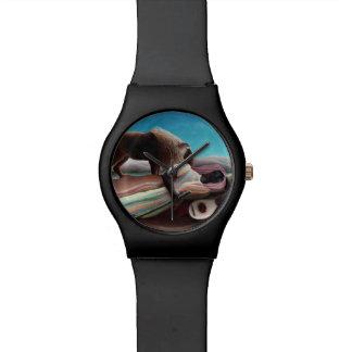 Henri Rousseau o vintage aciganado do sono Relógio