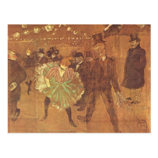 Henri Toulouse-Lautrec: Cabine do La Goulue Cartão Postal