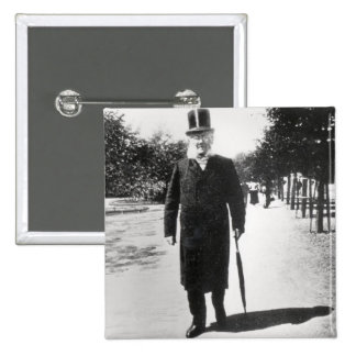 Henrik Ibsen (1828-1906) em Oslo, 1896 (foto de b/ Bóton Quadrado 5.08cm