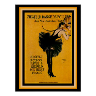 Henry Clive Ziegfeld Danse De Insensatez Poster