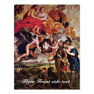 Henry recebe o retrato de Maria De Medici perto Panfletos Personalizado