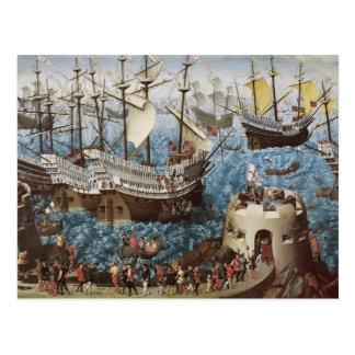 Henry VIII a bordo da benevolência de Henry um Cartão Postal