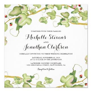 Hera botânica moderna do convite de casamento |