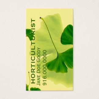 Herbalist de jardinagem cartão de visitas