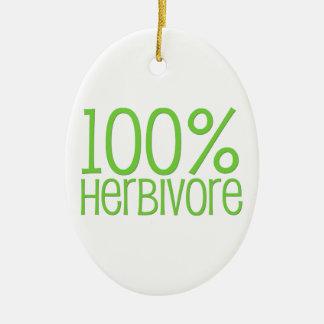 Herbívoro 100% ornamento de cerâmica