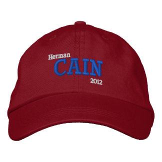 Herman Cain 2012 Boné Bordado