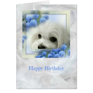 Hermes o cartão de aniversário maltês