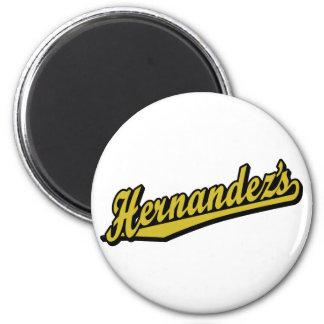 Hernández no ouro ímã redondo 5.08cm