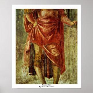 Herói antigo por Bramante Donato Poster