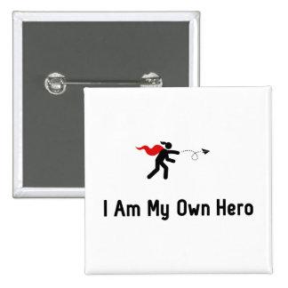 Herói do avião de papel bóton quadrado 5.08cm