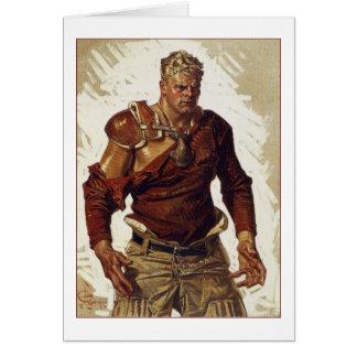 Herói do futebol por Joseph Leyendecker Cartão Comemorativo