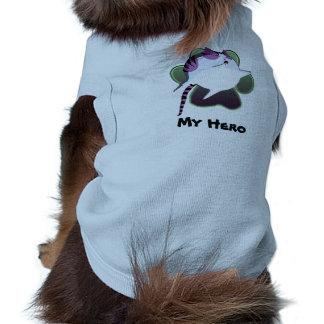 HERÓI do gatinho da bala de canhão Camisa Sem Mangas Para Cachorro