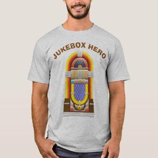Herói do jukebox do jogador de música   do vintage camiseta