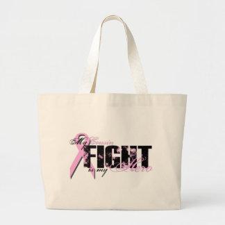 Herói do primo - cancro da mama da luta sacola tote jumbo