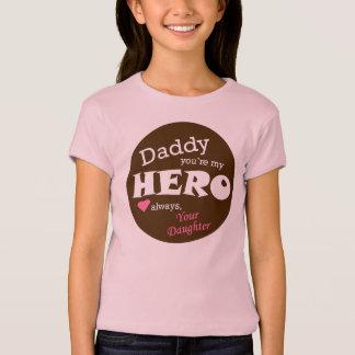 Herói-filha do pai t-shirts