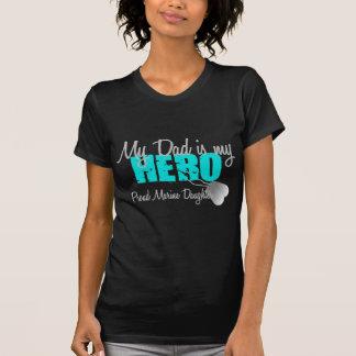 Herói marinho do pai da filha t-shirts