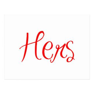 hers-sexy-red png cartões postais
