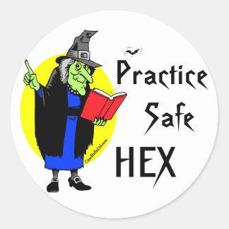 Hex do cofre forte da prática adesivo