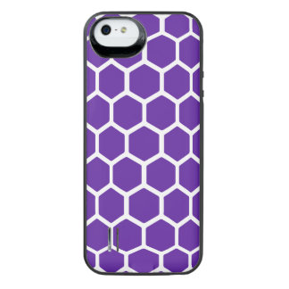 Hexágono 2 do roxo real capa carregador para iPhone SE/5/5s
