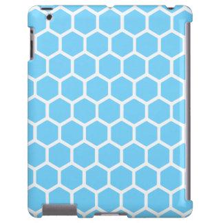 Hexágono 2 dos azul-céu capa para iPad