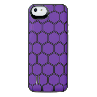 Hexágono 3 do roxo real capa carregador para iPhone SE/5/5s