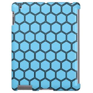 Hexágono 3 dos azul-céu capa para iPad
