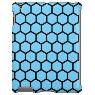 Hexágono 4 dos azul-céu capa para iPad
