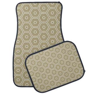 Hexágono do ouro geométrico tapete automotivo