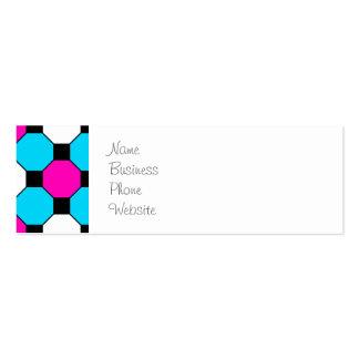 Hexágonos brancos dos quadrados pretos da cerceta cartão de visita skinny