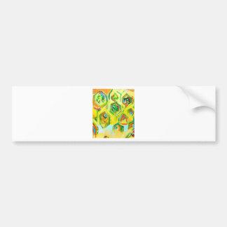 Hexágonos crus esverdeados (expressionism geométri adesivo para carro