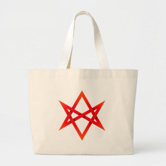 Hexagram Unicursal vermelho 3D Sacola Tote Jumbo