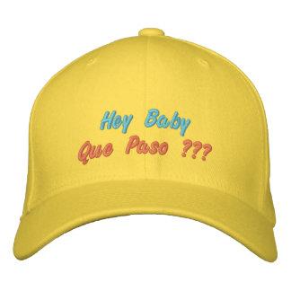 Hey bebê Que Paso??? Boné Bordado