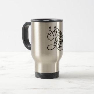 Hey caneca de café do sul ocasional do cumprimento