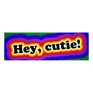 Hey, cutie! Cartões do namorico Cartão De Visita Skinny