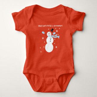 Hey! Deixe-nos construir um boneco de neve para o Body Para Bebê