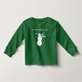 Hey! Deixe-nos construir um t-shirt do boneco de Camiseta Infantil