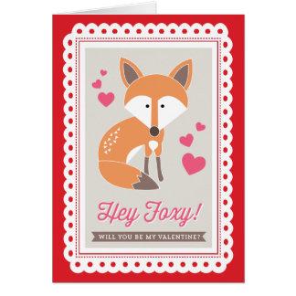 Hey Foxy! por Origami imprime namorados cartão dob