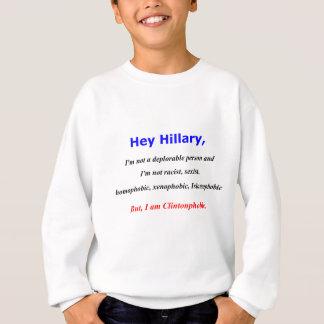 Hey Hillary, eu sou Clintonphobic Agasalho