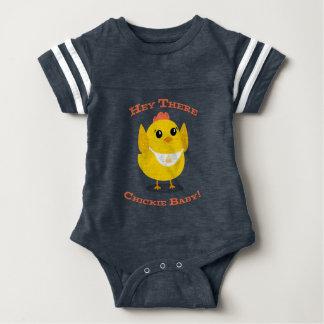 Hey lá bebê de Chickie - Bodysuit do futebol do Body Para Bebê