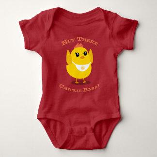 Hey lá bebê de Chickie - Bodysuit do jérsei do Body Para Bebê